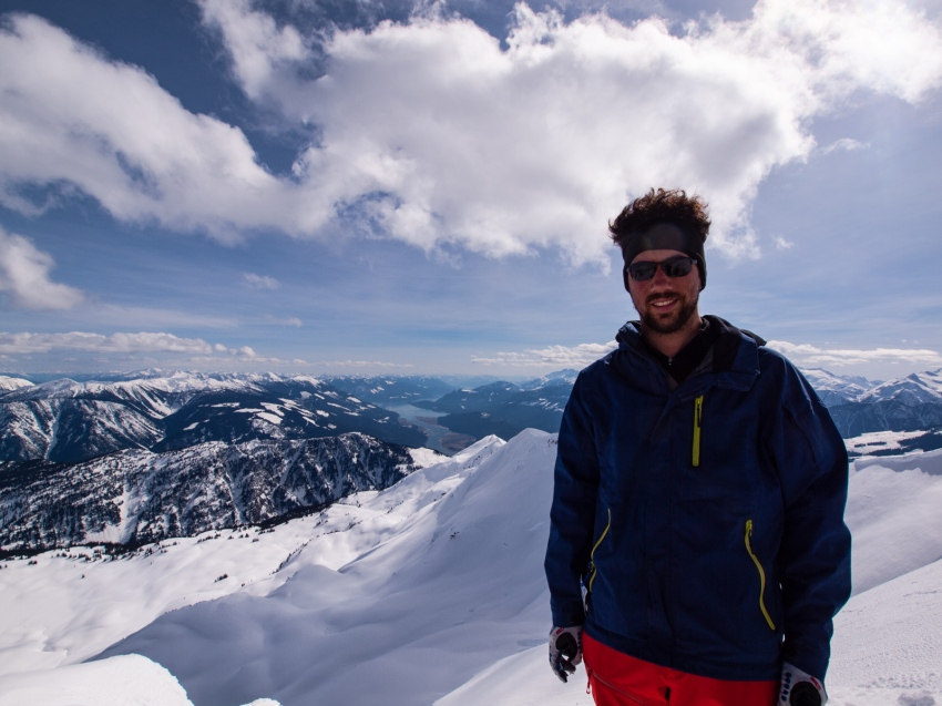 Me, on the summit of Cartier, looking south.