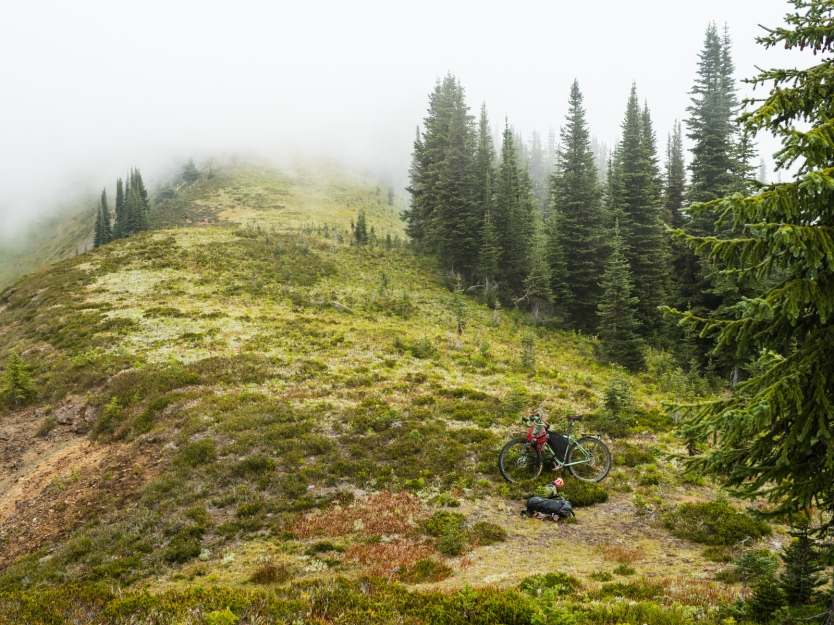 Moody skies on the ridge.